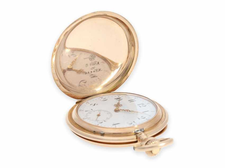 Pocket watch: rare, extra-large IWC Savonnette in rose gold, special caliber, CA. 1905 - photo 2