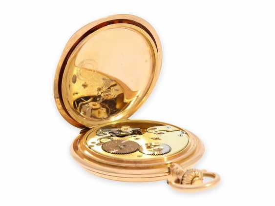 Pocket watch: rare, extra-large IWC Savonnette in rose gold, special caliber, CA. 1905 - photo 3