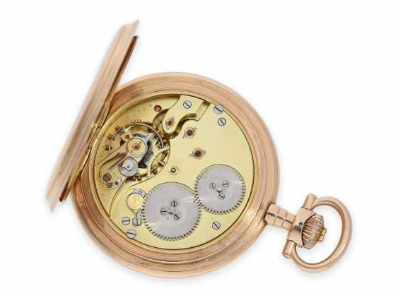 Pocket watch: rare, extra-large IWC Savonnette in rose gold, special caliber, CA. 1905 - photo 4