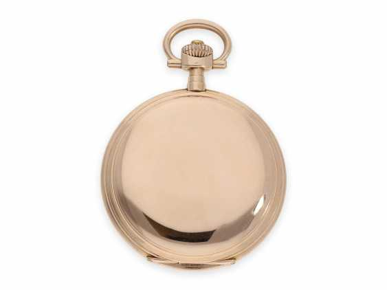 Pocket watch: rare, extra-large IWC Savonnette in rose gold, special caliber, CA. 1905 - photo 6