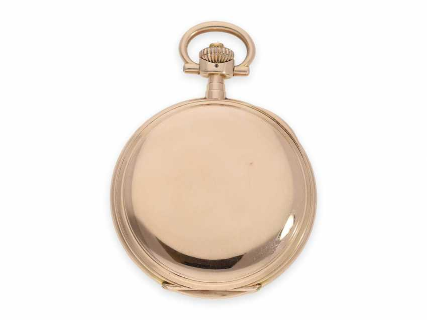 Pocket watch: rare, extra-large IWC Savonnette in rose gold, special caliber, CA. 1905 - photo 7