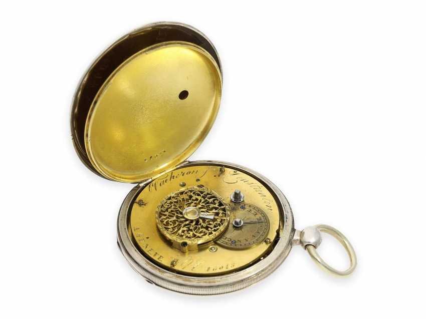 Pocket watch: one of the earliest known pocket watches by Vacheron & Constantin with spindle work, Geneva, CA. 1820 - photo 4