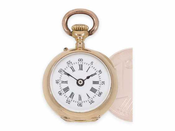 Pocket watch/Anhängeuhr: rarity, one of the smallest of the Louis XV precision pocket watches in the world, Auguste Ecalle Palais Royal, Paris, CA. 1880 - photo 1