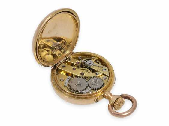 Pocket watch/Anhängeuhr: rarity, one of the smallest of the Louis XV precision pocket watches in the world, Auguste Ecalle Palais Royal, Paris, CA. 1880 - photo 3