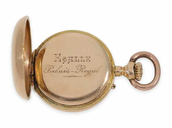 Pocket watch/Anhängeuhr: rarity, one of the smallest of the Louis XV precision pocket watches in the world, Auguste Ecalle Palais Royal, Paris, CA. 1880 - photo 5