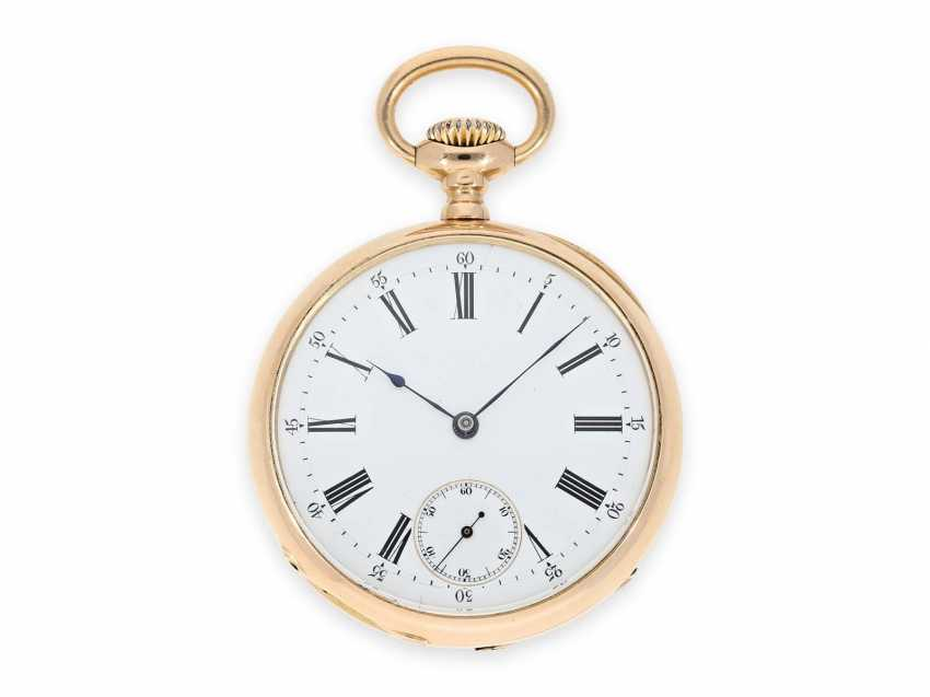 Pocket watch: elegant men's pocket watch by Patek Philippe with original box, Anchor chronometer, supplied to the chronometer-maker Rodanet in Paris, CA. 1885 - photo 2