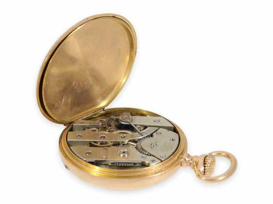 Pocket watch: elegant men's pocket watch by Patek Philippe with original box, Anchor chronometer, supplied to the chronometer-maker Rodanet in Paris, CA. 1885 - photo 4