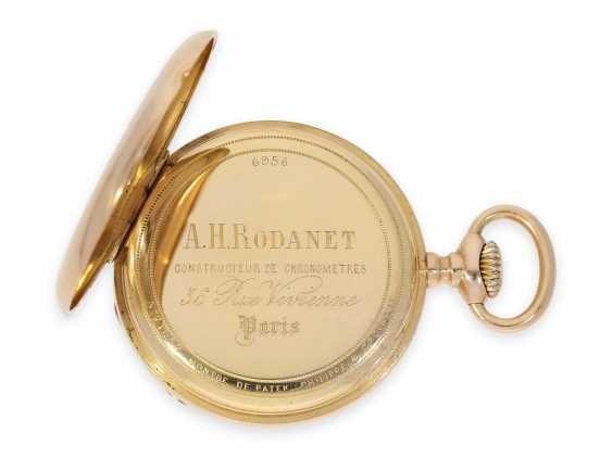 Pocket watch: elegant men's pocket watch by Patek Philippe with original box, Anchor chronometer, supplied to the chronometer-maker Rodanet in Paris, CA. 1885 - photo 6