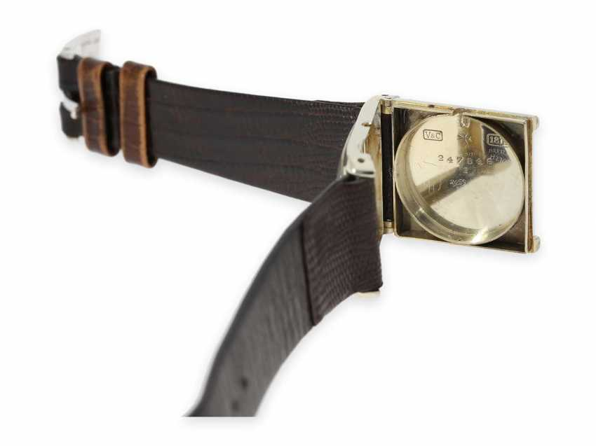 Watch: extremely rare Vacheron & Constantin Art Deco watch in white gold, approx 1925 - photo 3