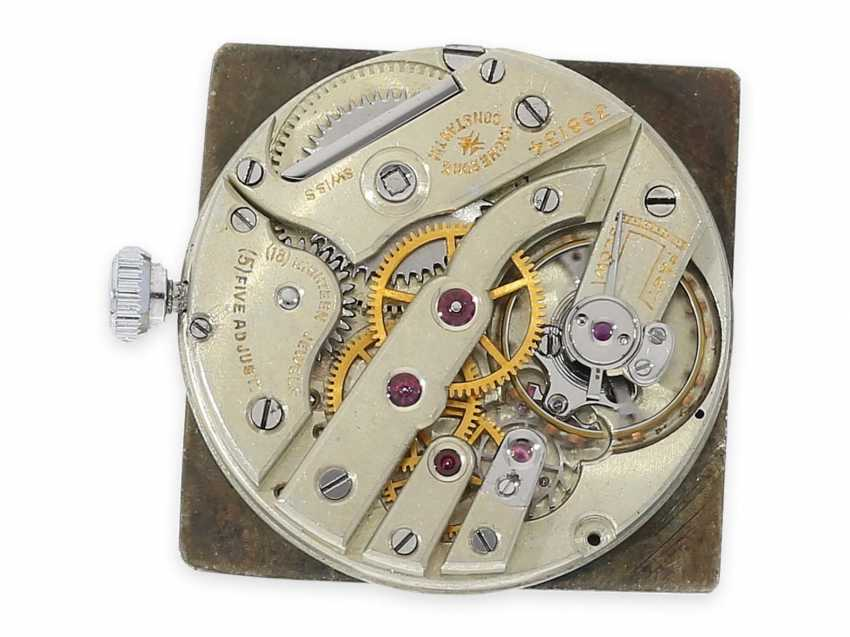 Watch: extremely rare Vacheron & Constantin Art Deco watch in white gold, approx 1925 - photo 4