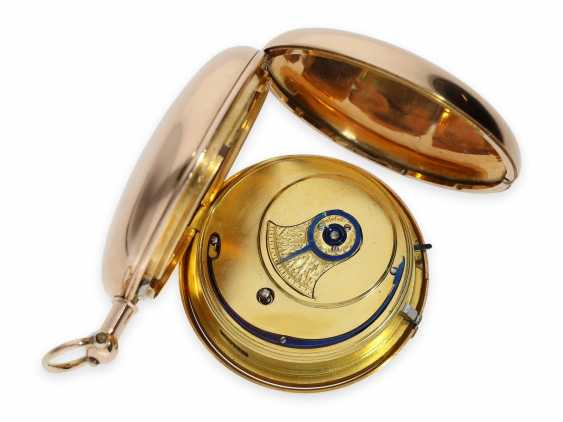 Pocket watch: extremely heavy gold-Savonnette with computing anchor escapement and seconds stop, Whitehurst & Son Derby No. 2563, Hallmarks 1810 - photo 4