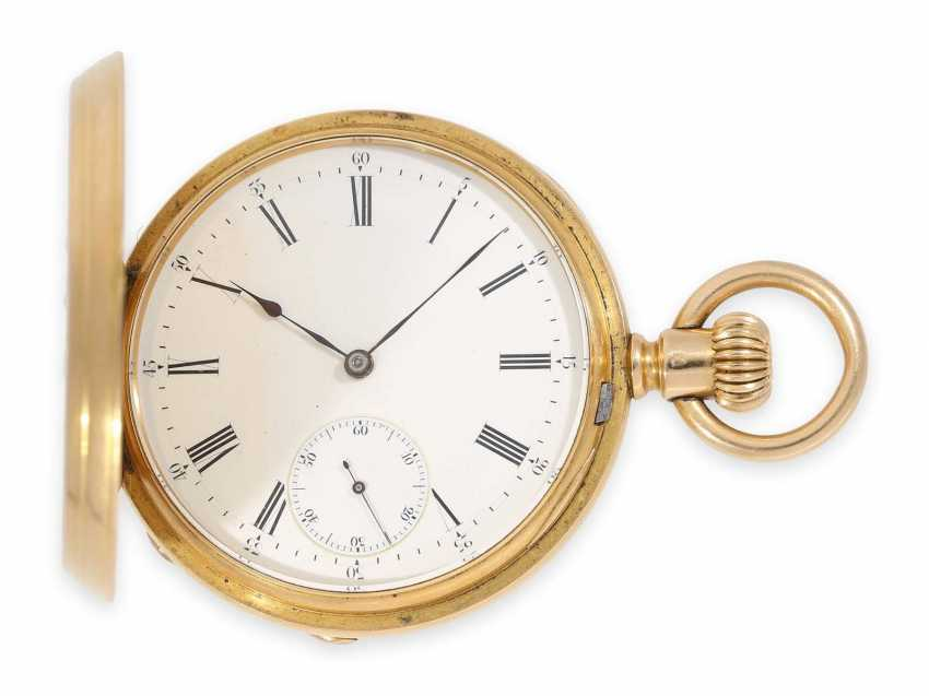 Карманные часы: раннее Patek Philippe золото savonnette, Якорь хронометров № 45207, приблизительно 1870 - фото 1