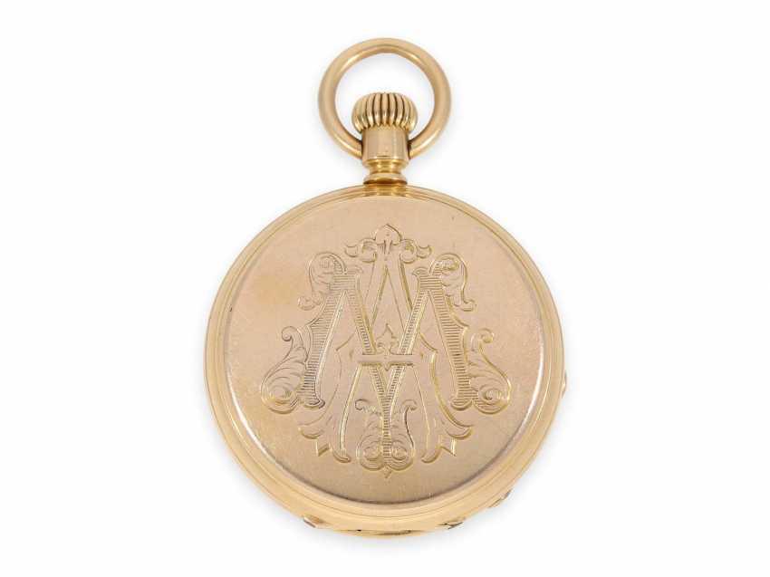 Карманные часы: раннее Patek Philippe золото savonnette, Якорь хронометров № 45207, приблизительно 1870 - фото 3
