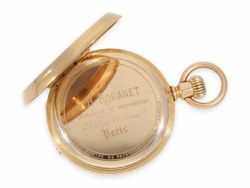 Карманные часы: раннее Patek Philippe золото savonnette, Якорь хронометров № 45207, приблизительно 1870 - фото 5