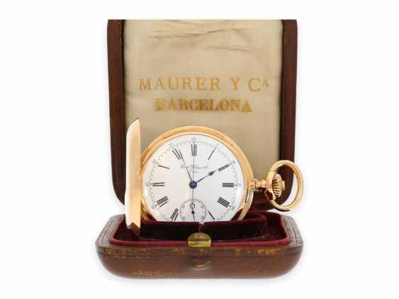 Карманные часы: ранний Patek Philippe Анкерный хронометр с хронографом, доставлен в ПП комиссионера каменщик в Барселоне, №66430, около 1885 - фото 1