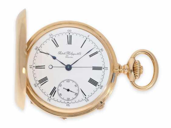 Карманные часы: ранний Patek Philippe Анкерный хронометр с хронографом, доставлен в ПП комиссионера каменщик в Барселоне, №66430, около 1885 - фото 2