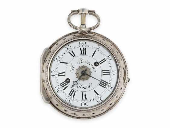 Pocket watch/Karossenuhr: extremely rare Italian Karossenuhr with Repetition and alarm, Mauro Pastorino Roma, CA. 1780 - photo 1
