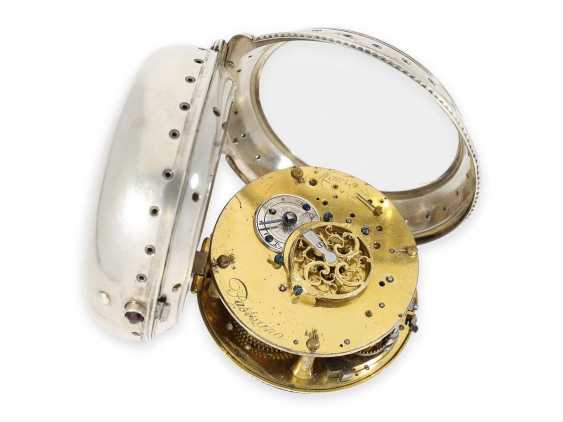 Pocket watch/Karossenuhr: extremely rare Italian Karossenuhr with Repetition and alarm, Mauro Pastorino Roma, CA. 1780 - photo 2