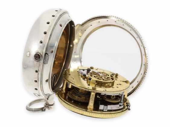 Pocket watch/Karossenuhr: extremely rare Italian Karossenuhr with Repetition and alarm, Mauro Pastorino Roma, CA. 1780 - photo 4