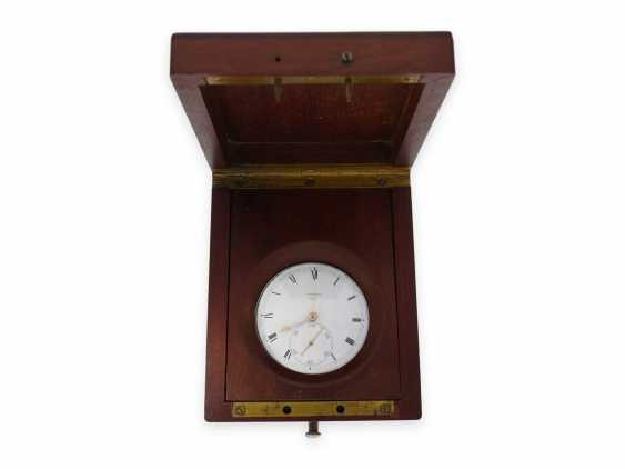 """Pocket watch: important and extremely rare Arnold Pocket chronometer with """"right-angle compensation"""", Jn.R.Arnold No. 3022, Hallmarks 1818 - photo 1"""