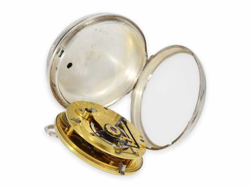 """Pocket watch: important and extremely rare Arnold Pocket chronometer with """"right-angle compensation"""", Jn.R.Arnold No. 3022, Hallmarks 1818 - photo 4"""