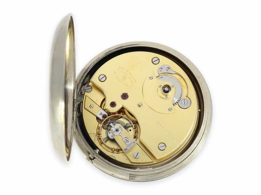 """Pocket watch/Watch: extremely rare Vacheron & Constantin Observation chronometer with Regulator dial and anhaltbarer second """"Heure Exacte"""", CA. 1930 - photo 2"""