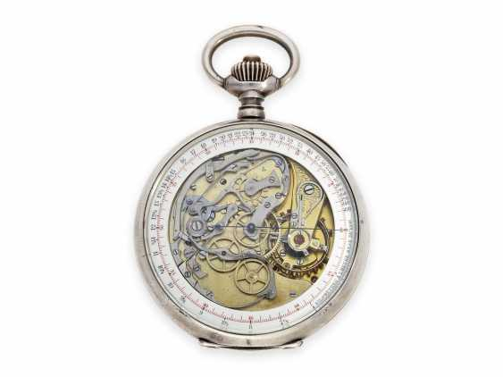 """Pocket watch: extremely rare, especially large double-sided Omega pocket chronograph, the so-called """"Chrono-Tachymeter Cadran Brevetè S. G. D. G"""" , CA. 1900 - photo 2"""