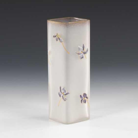 Art Nouveau Vase with enamel painting, LEGRAS ; CIE - photo 1