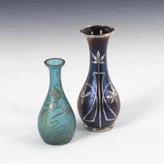 2 art Nouveau vases with floral decor - photo 1