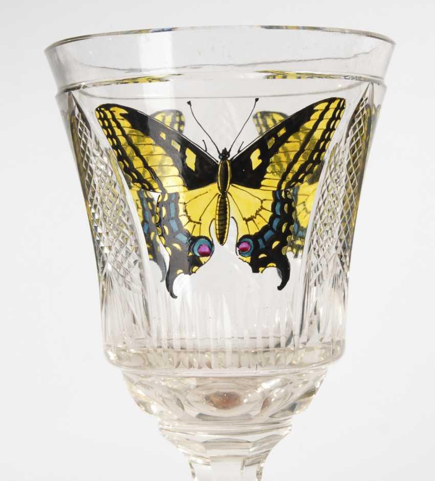 Goblet glass with enamel painting, STEINSCHÖNAU - photo 2