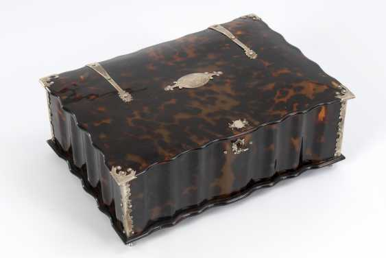 Large tortoiseshell casket fittings with silver plated - photo 1