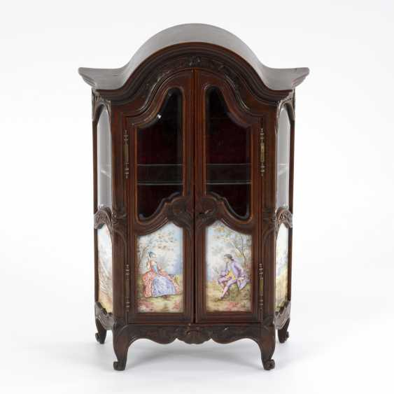 Viennese miniature furniture with enamel painting - photo 1