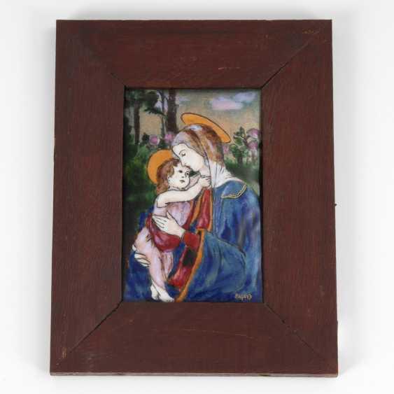 BIGARD, Gaston: enamel painting: Madonna with child - photo 1