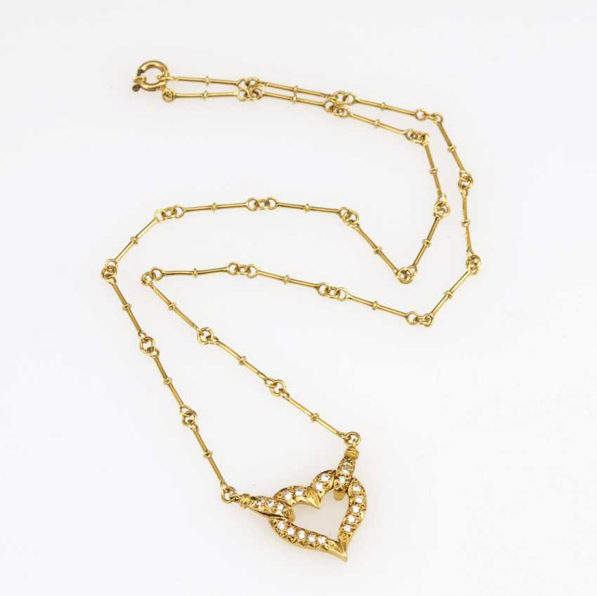 Necklace with diamonds - photo 2