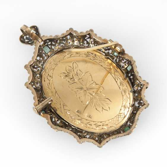 Brooch/pendant with ladies ' portrait, the end of the 19th century - photo 2