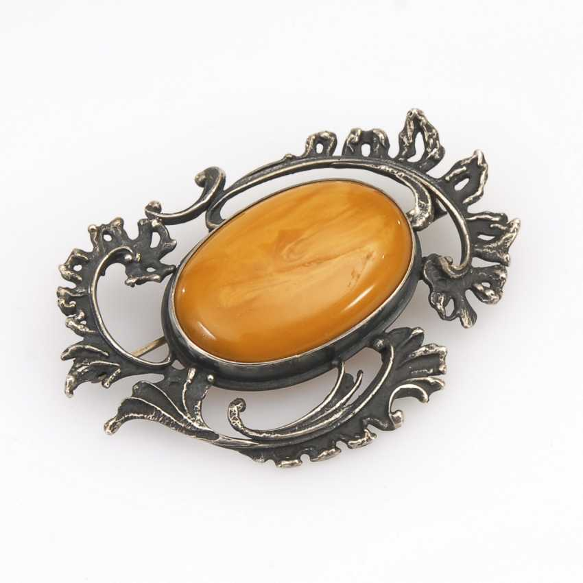 Large brooch with amber - photo 1