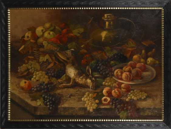 Indistinctly signed: Large still-life with hare - photo 2