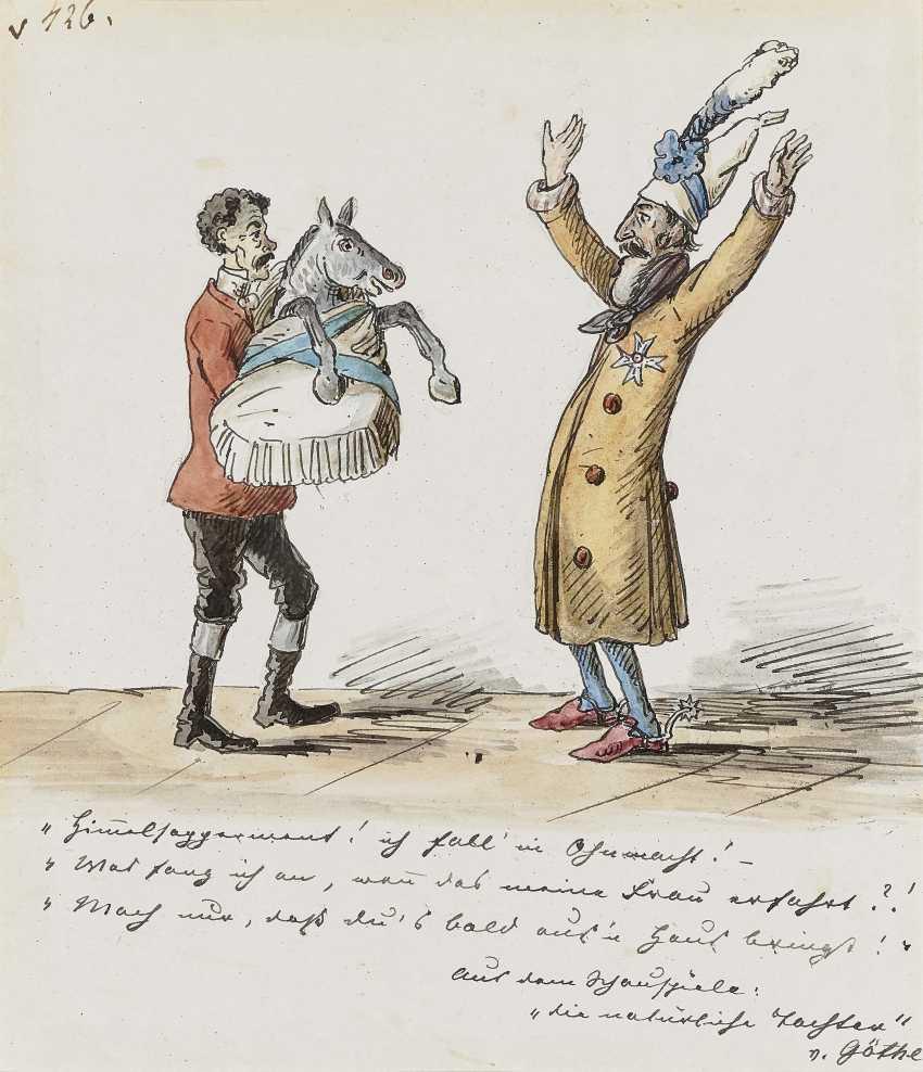 """Театр сцена Из """"естественной дочка"""" Иоганн Вольфганг Гете. , Pocci, граф Франц 1807 Мюнхен - 1876 там же - фото 1"""