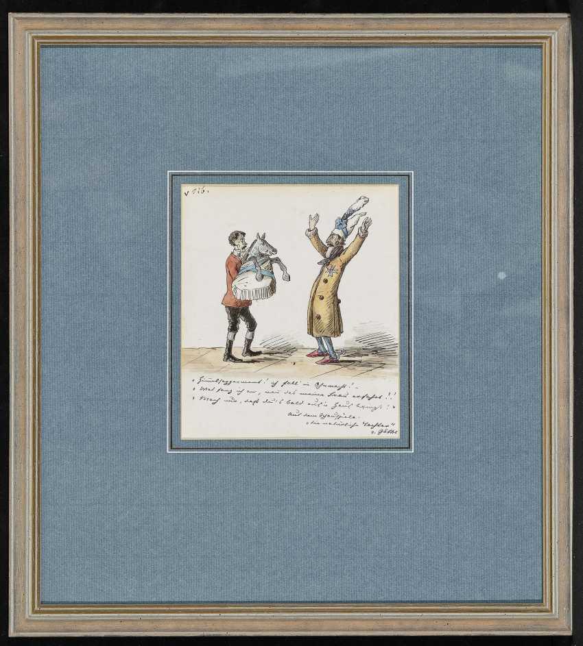 """Театр сцена Из """"естественной дочка"""" Иоганн Вольфганг Гете. , Pocci, граф Франц 1807 Мюнхен - 1876 там же - фото 2"""
