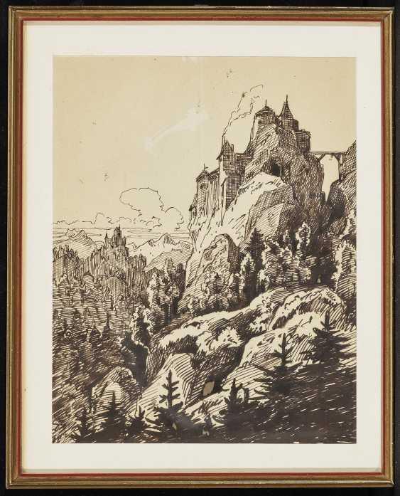 Пейзаж с замком , Pocci, граф Франц 1807 Мюнхен - 1876 там же - фото 2