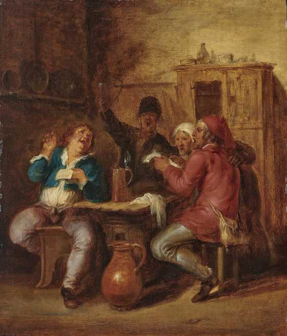 Tavern Scenes, Singing Peasants - Armed Farmers. Two Of The Paintings. , Malo, Vincent 1600. o. 1602 Cambrai - 1644 Rom - photo 2