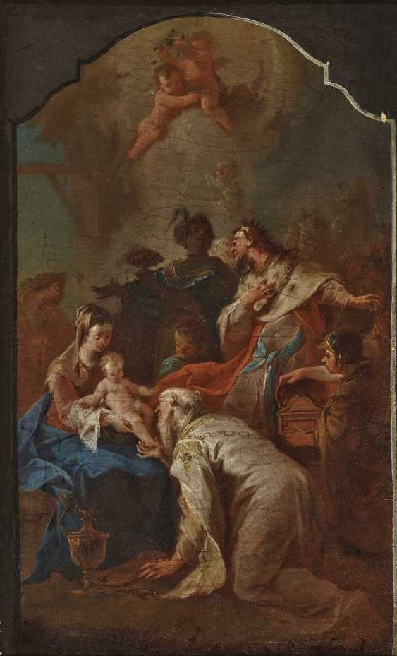Adoration of the kings, Probably the Bozzetto for an altarpiece. , South German or Austrian 18. Century - photo 1