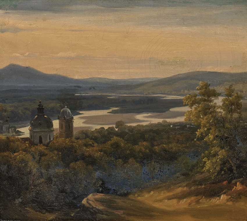 Views of the Salzach river , South German or Austrian 19. Century - photo 1
