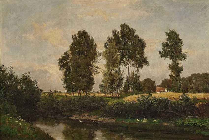 Пейзаж с крестьянской усадьбе , РЕТ, Филипп 1841 Дармштадт - Мюнхен 1921 - фото 1