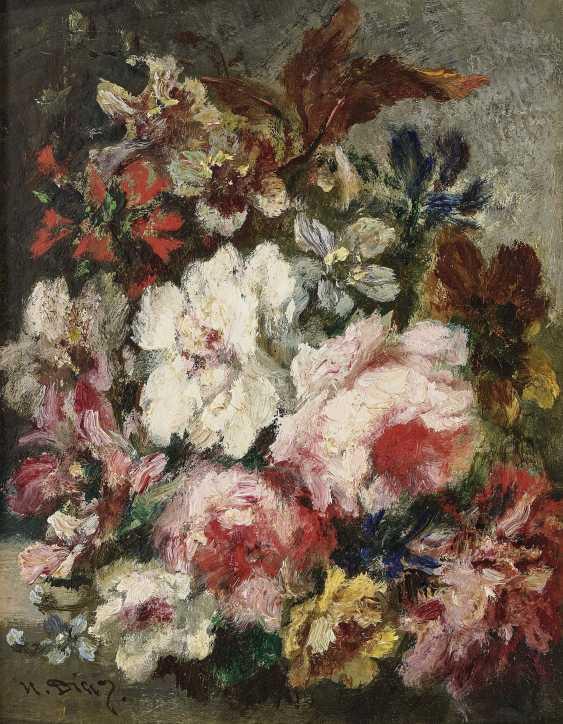 Bouquets Of Flowers, Two Paintings. , Diaz de la Peña, Narcisse Virgile - photo 1