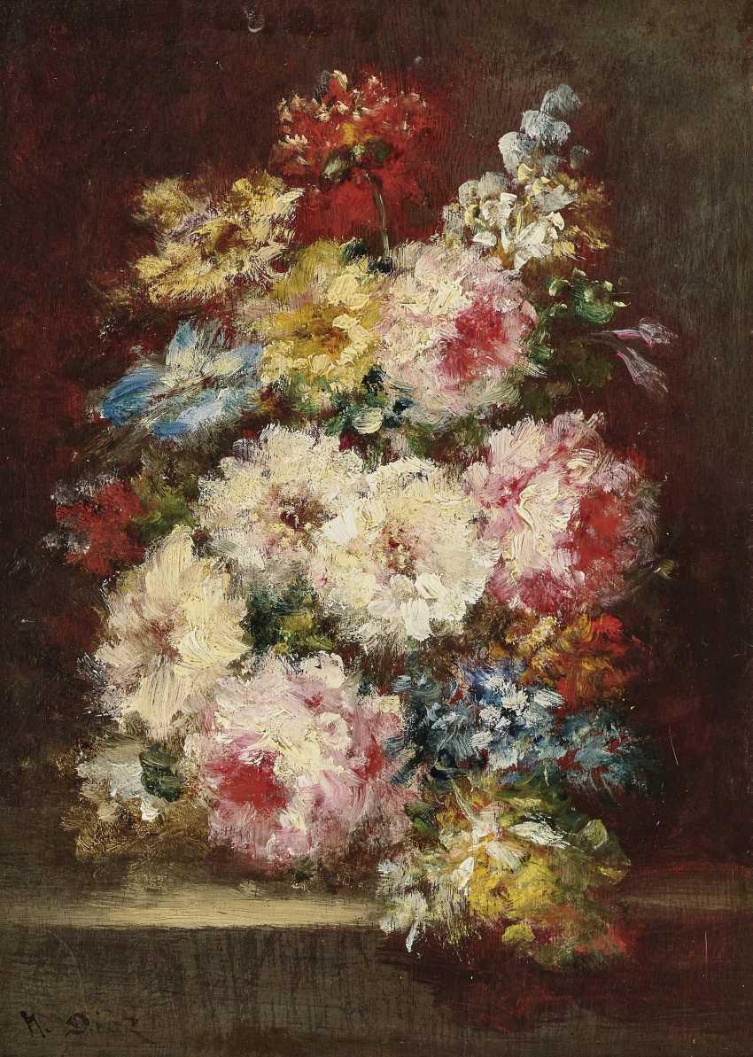 Bouquets Of Flowers, Two Paintings. , Diaz de la Peña, Narcisse Virgile - photo 2