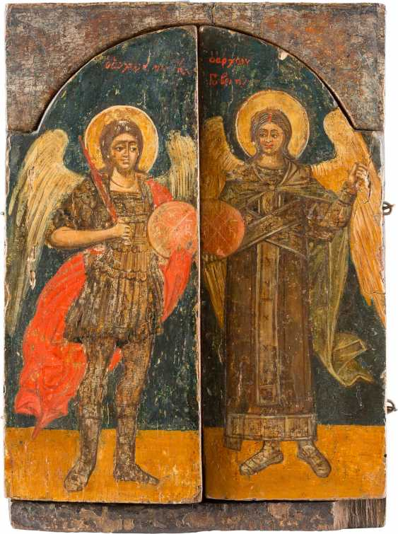 TRIPTYCH WITH DEESIS, SAINTS, AND THE ARCHANGELS MICHAEL AND GABRIEL - photo 2
