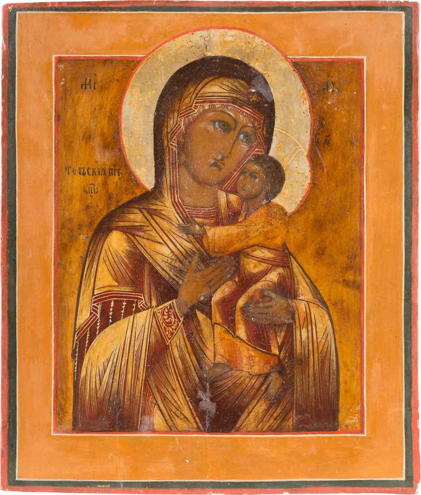 ИКОНА БОЖЬЕЙ МАТЕРИ ТОЛГСКАЯ (TOLGSKAJA) С OKLAD - фото 2