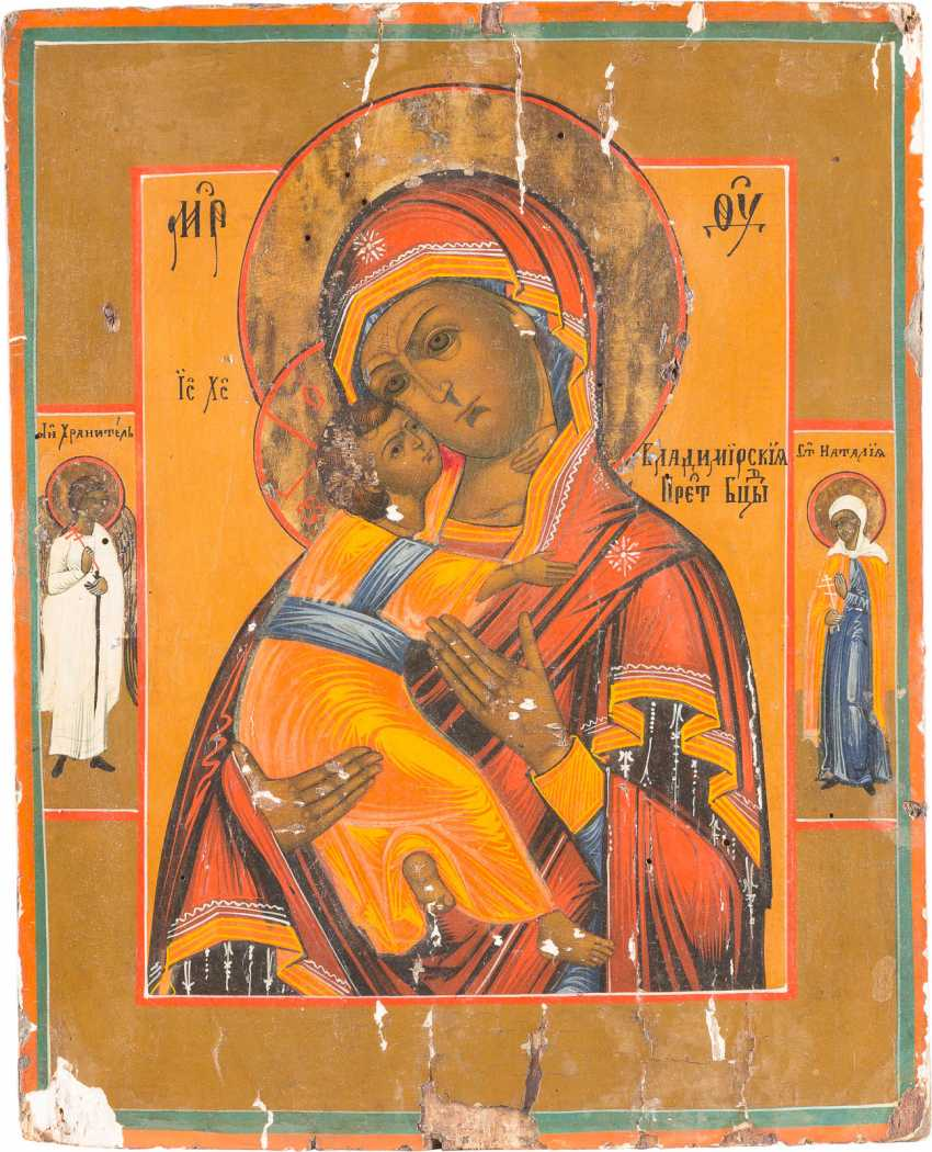 TWO ICONS: MOTHER OF GOD OF VLADIMIR AND THE ANNUNCIATION OF THE MOTHER OF GOD - photo 2