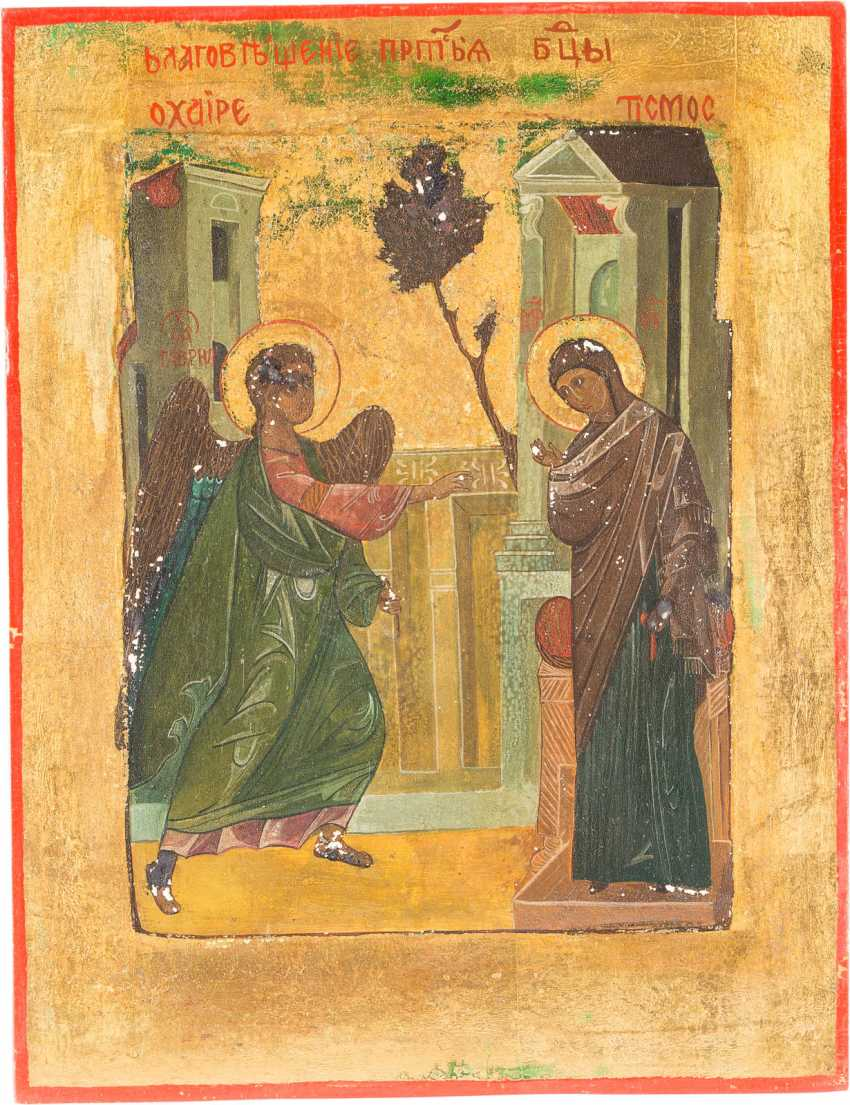 TWO ICONS: MOTHER OF GOD OF VLADIMIR AND THE ANNUNCIATION OF THE MOTHER OF GOD - photo 3